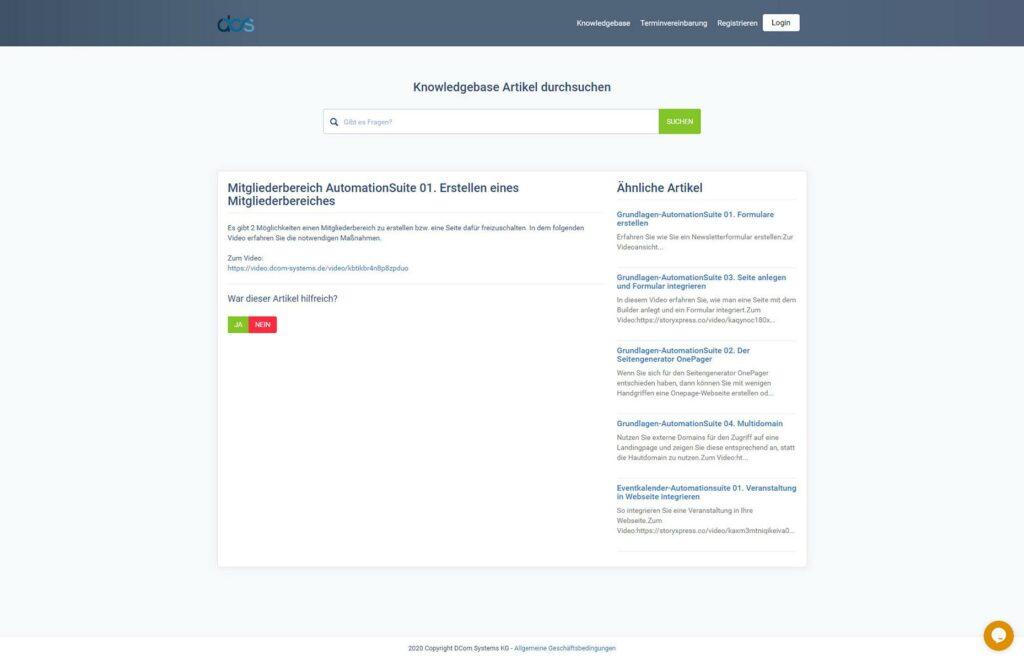 DCS CRM FAQ/Knowledgebase